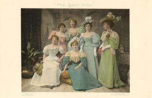 The cast of The Shop Girl in an 1895 souvenir programme © Victoria and Albert Museum, London