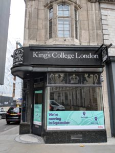 The King's Shop on the corner of Surrey Street and the Strand