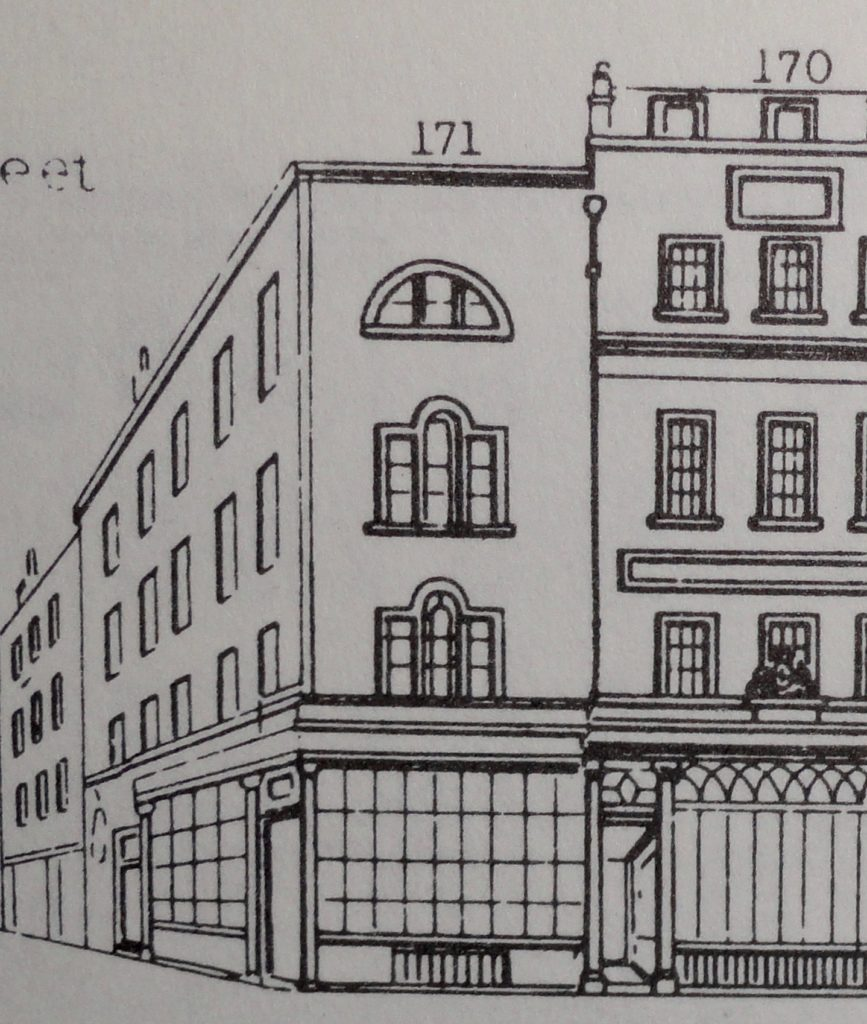 The King's shop as it was in 1847 from the second, 1847 edition of John Tallis's Steet Views.
