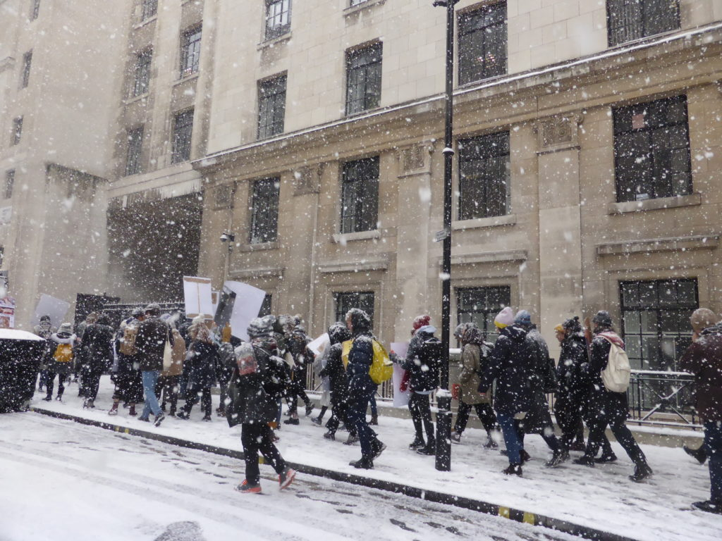 Universities and Colleges Union march in February 2018