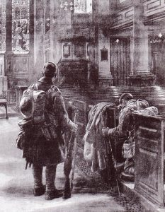 St Martin in the Fields as a shelter for soldiers returning from WW1