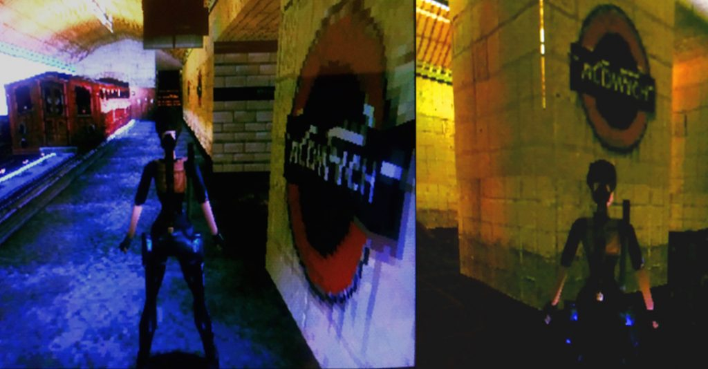Aldwych station as portrayed in Tomb Raider III