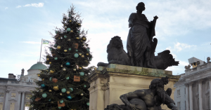 The 2018 Christmas tree at Somerset House