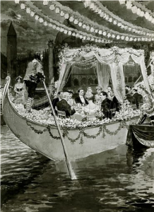 Painting of Gondola Party, 1905