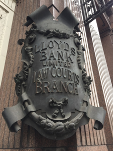Lloyds law court branch shield ©Heather Tweed