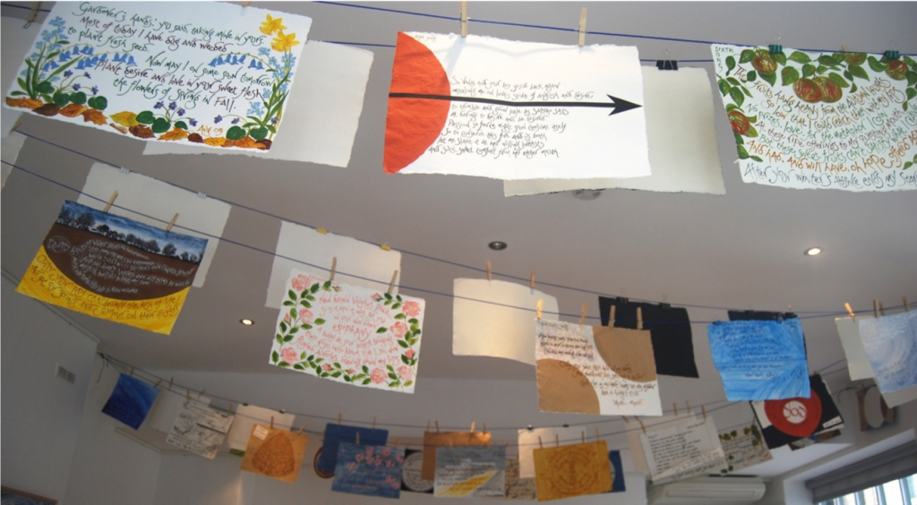 Maureen Duffy CrPaper Wings as an installation at Enitharmon's gallery, September/October 2014