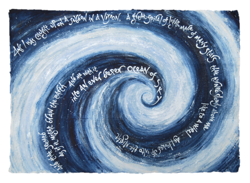 'Spiral of light', by Liz Mathews, which sets another text from Maureen Duffy's 'Alchemy'.