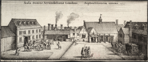 Image: Engraving of Arundel House (1646) - Adam Bierling from a drawing by Wenceslas Hollar