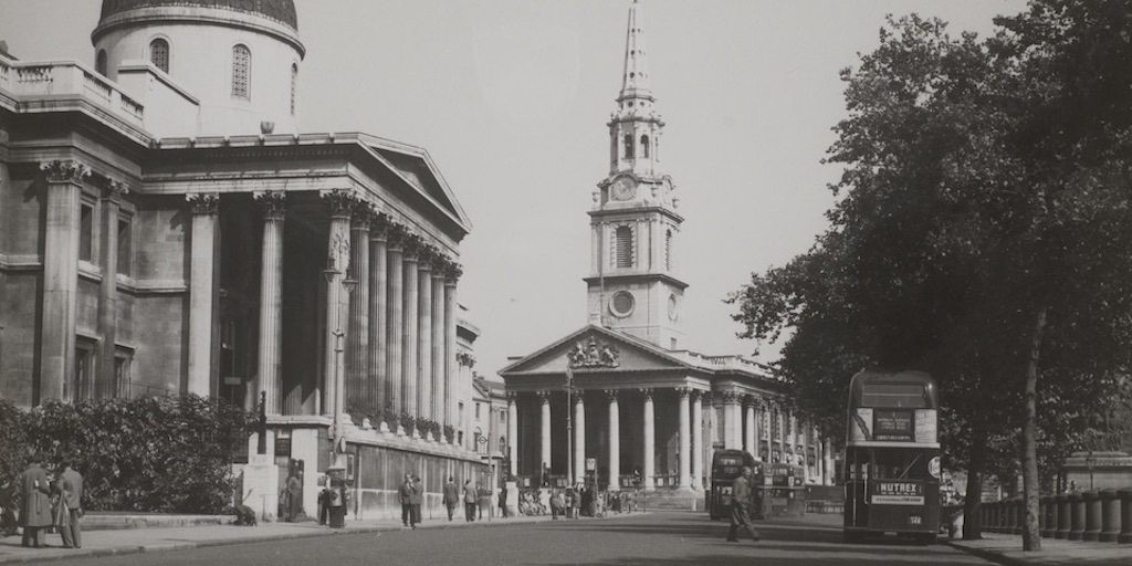 The National Gallery and St Martins-in-the-fields. CON_B04092_F001_004. The Courtauld Institute of Art. CC-BY-NC.