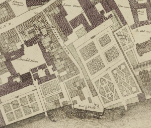 Ogilby and W. Morgan map of London (1676)