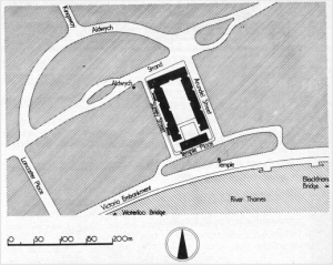 Location plan, Frederick Gibberd and Partners, London (1976) AJ Building Library