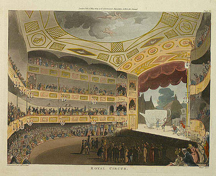 The Royal Circus (as the Surrey Theatre was known), via wikimedia.