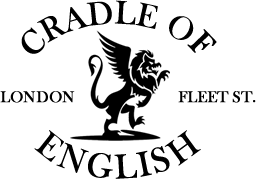Cradle of English logo black