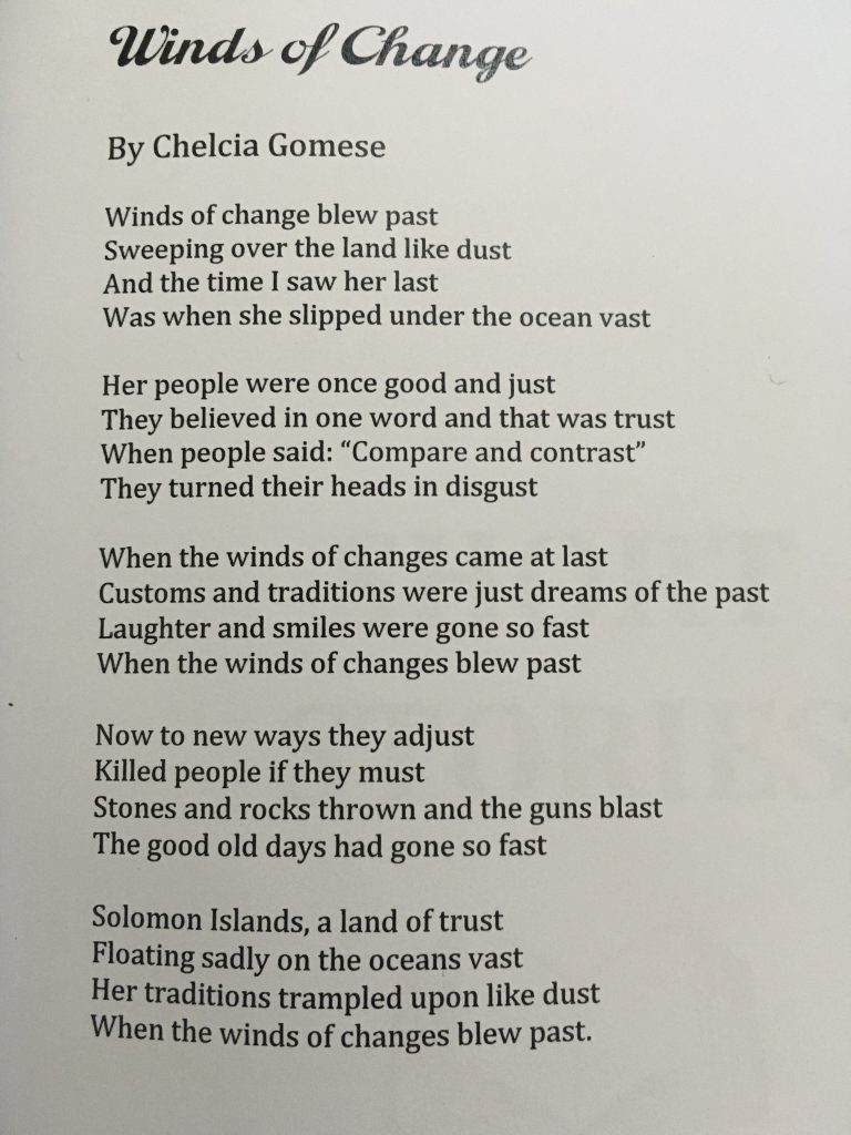 Winds of Change by Chelcia Gomese