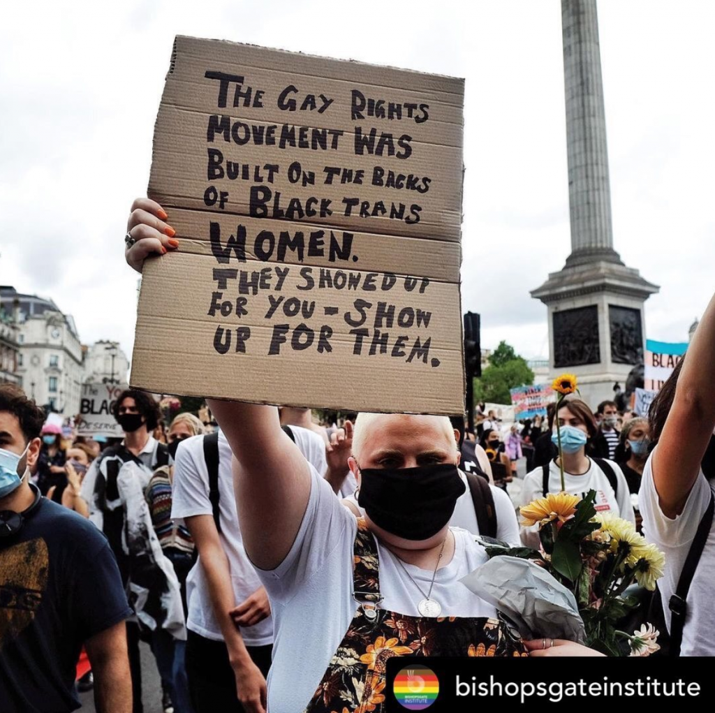 Photograph by Angela Christofilou (@protests_photos on Instagram) whose archive is held at the Bishopsgate Institute.