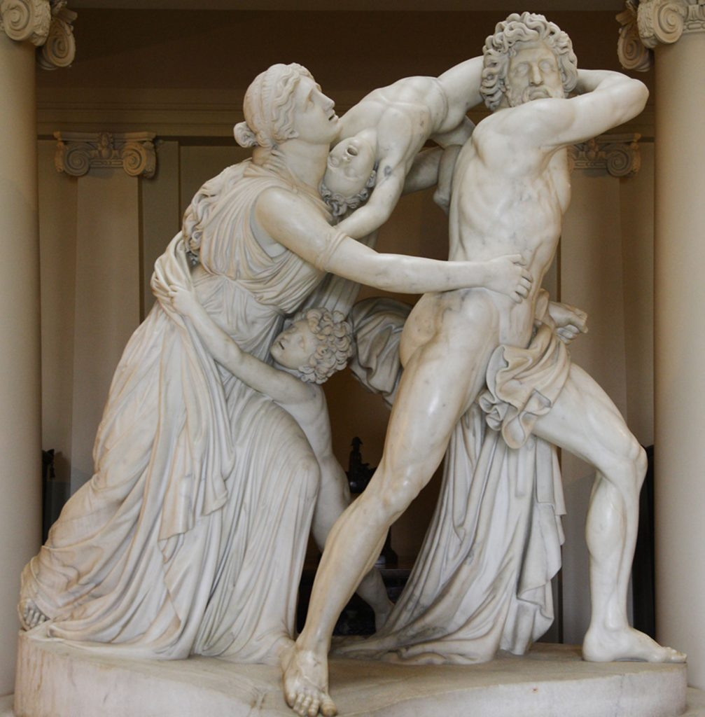 The Fury of Athamas, marble sculpture by John Flaxman, 1790–94; in the collection of the National Trust, Ickworth, Suffolk, England