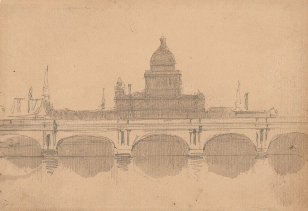 Roberts, David; View of St. Paul's Cathedral from the Thames;   Credit line: (c) Royal Academy of Arts