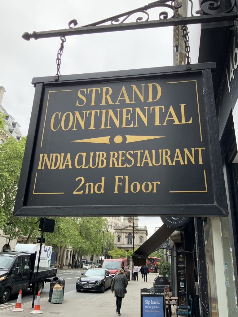 The India club sign