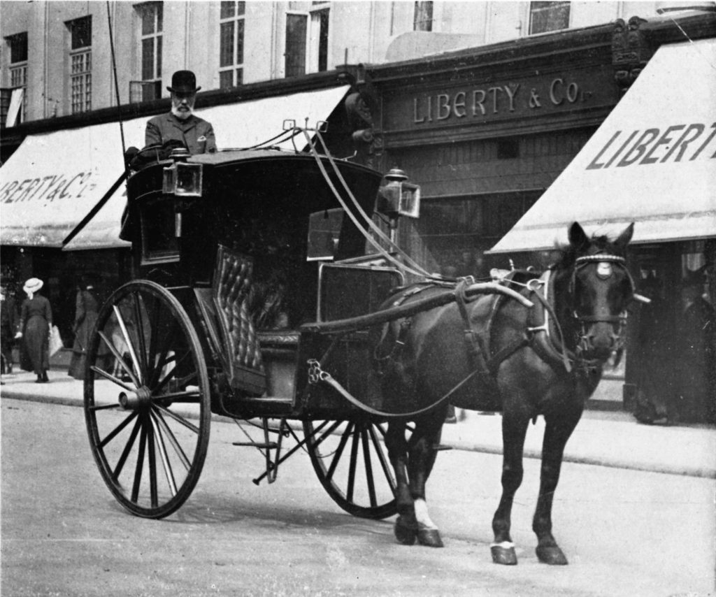 Hackney coach photographed - from the London Vintage Taxi Association