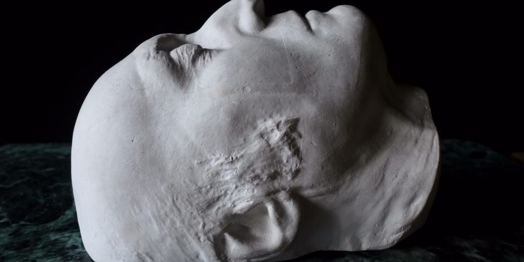 Plaster cast, death mask of Thomas Lawrence RA (1769-1830). © Jane Wildgoose, The Wildgoose Memorial Library